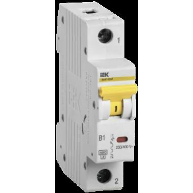 MVA31-1-032-B IEK Выключатель автоматический ВА47-60M 1Р 32А 6кА B IEK