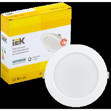 LDVO0-1613-12-4000-K01 IEK Светильник светодиодный ДВО 1613 круг 12Вт 4000К IP20 белый IEK