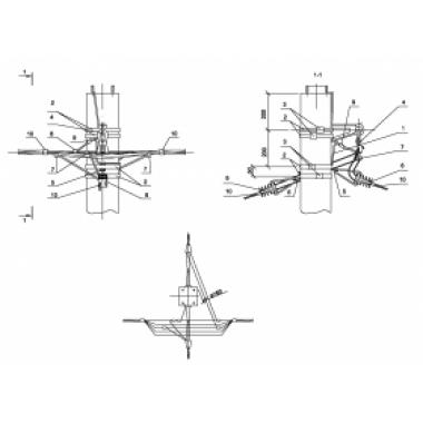 ASIP-BET-OPR-101-21-01 IEK Опора П33 ж/б промежуточная одноцепная с ответвлением в две стороны СИП4-2 IEK