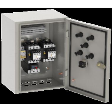 NKU10-RUSM-54102274-01 IEK Ящик управления РУСМ5410-1874 реверсивный 1 фидер автоматический выключатель на каждый фидер без переключателя на автоматический режим 1,6А IP54 IEK