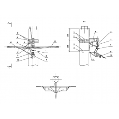 ASIP-BET-OPR-101-12-01 IEK Опора П33 ж/б промежуточная одноцепная с ответвлением в одну сторону СИП4-4 IEK