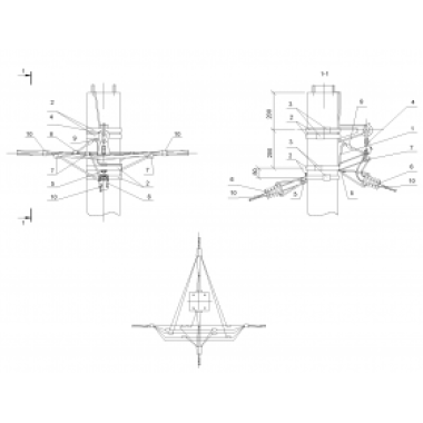ASIP-BET-OPR-101-22-01 IEK Опора П33 ж/б промежуточная одноцепная с ответвлением в две стороны СИП4-4 IEK
