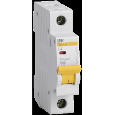 MVA20-1-004-D IEK Выключатель автоматический ВА47-29 1Р 4А 4,5кА D IEK