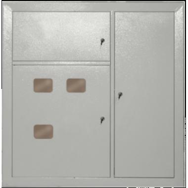 NKU10-SHET-33020000-01 IEK Щит этажный ЩЭ-3302 УХЛ3 с отделением для слаботочных устройств 3 квартиры отходящие на каждую квартиру УЗО 2p 1х50А 30мА выключатели автоматические 2Р 1х40А 1Р 2х16А 1х25А IEK