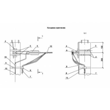 ASIP-BET-KRB-300-00-00 IEK Крепление концевое провода IEK
