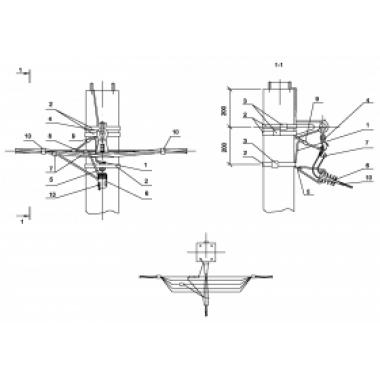 ASIP-BET-OPR-101-11-01 IEK Опора П33 ж/б промежуточная одноцепная с ответвлением в одну сторону СИП4-2 IEK