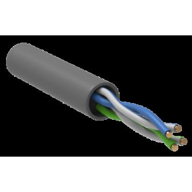 BC1-C502-111-305-G IEK Кабель связи витая пара U/UTP кат.5 CCA 100МГц 2 пары PVC INDOOR 1м серый GENERICA