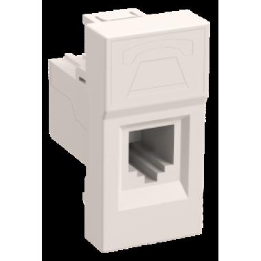 CKK-40D-RI1-K01 IEK Розетка информационная РКИ-10-00-П RJ-45 UTP кат.5e (на 1 модуль) ПРАЙМЕР белая