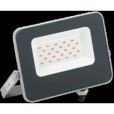 LPDO7R-01-20-K03 IEK Прожектор светодиодный СДО 07-20R red IP65 серый IEK