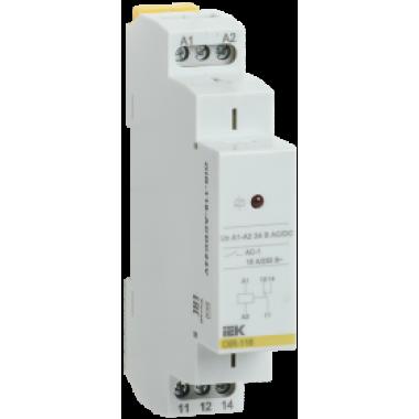 OIR-116-ACDC24V IEK Реле промежуточное модульное OIR 1 контакт 16А 24В AC/DC IEK