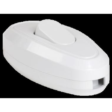 EVB10-K01-10 IEK Выключатель 1-клавишный разборный для бра ВБ-01Б белый IEK