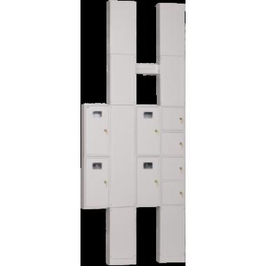 NKU10-UERM-21000000-01 IEK Устройство этажное распределительное УЭРМ-21 на две квартиры с однофазным вводом с характеристикой C в каждую квартиру IEK