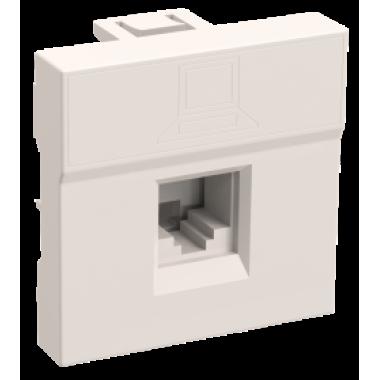 CKK-40D-RI2-K01 IEK Розетка информационная РКИ-20-00-П RJ-45 UTP кат.5e (на 2 модуля) ПРАЙМЕР белая