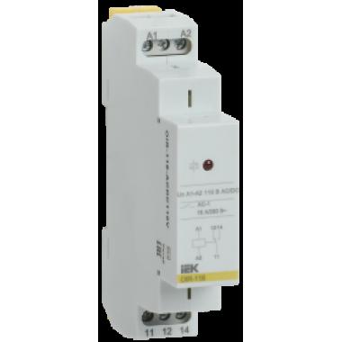 OIR-116-ACDC110V IEK Реле промежуточное модульное OIR 1 контакт 16А 110В AC/DC IEK