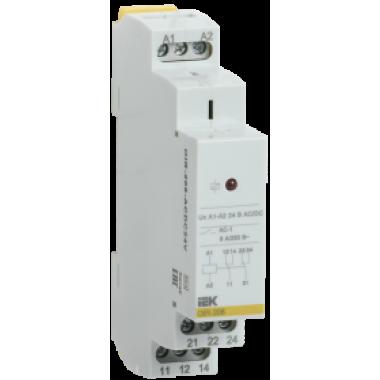 OIR-208-ACDC24V IEK Реле промежуточное модульное OIR 2 контакта 8А 24В AC/DC IEK