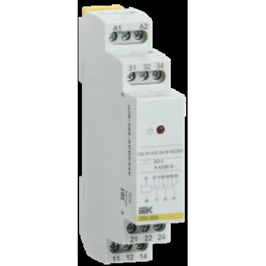 OIR-308-ACDC24V IEK Реле промежуточное модульное OIR 3 контакта 8А 24В AC/DC IEK