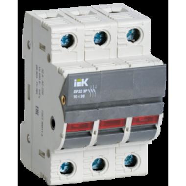 CFH03-32S IEK Предохранитель-разъединитель с индикацией ПР32 3P 10х38 32А