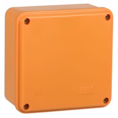 UKF20-100-100-050-2-10-09 IEK Коробка распаячная огнестойкая ПС 100х100х50мм 2P 10мм2 IP44 гладкие стенки IEK