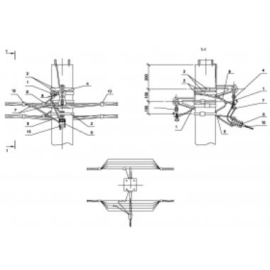 ASIP-BET-OPR-102-11-02 IEK Опора П34 ж/б промежуточная двухцепная с ответвлением в одну сторону СИП4-2 IEK