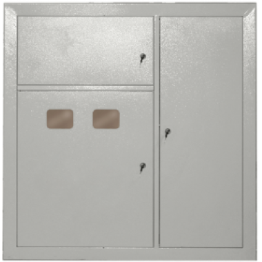 NKU10-SHET-32010000-01 IEK Щит этажный ЩЭ-3201 УХЛ3 с отделением для слаботочных устройств 2 квартиры выключатель автоматический вводной 3Р 100А отходящие на каждую квартиру УЗО 2Р 1х50А 30мА выключатели автоматические 2Р 1х40А 1Р 2х16А 1х25А IEK