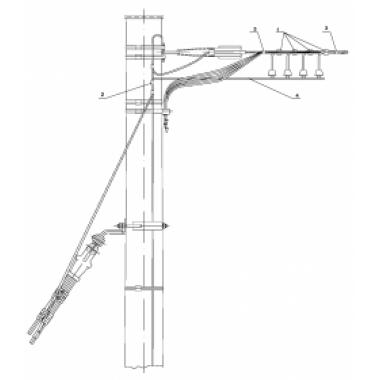 ASIP-DER-OPND-300-00-00 IEK Установка ОПН на концевой деревянной опоре ВЛИ IEK