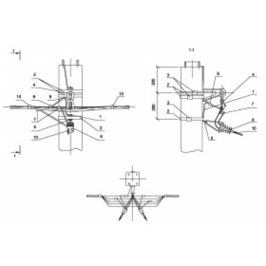 ASIP-BET-OPR-101-13-01 IEK Опора П33 ж/б промежуточная одноцепная с ответвлением в одну сторону 2хСИП4-2 IEK