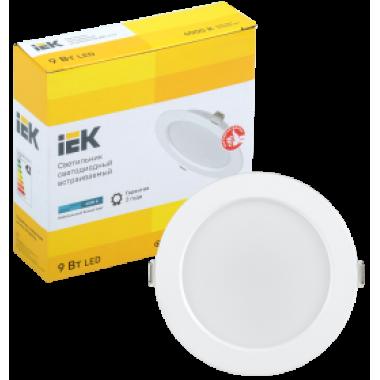 LDVO0-1612-09-4000-K01 IEK Светильник светодиодный ДВО 1612 круг 9Вт 4000К IP20 белый IEK