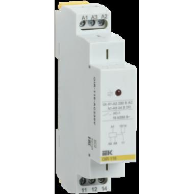 OIR-116-AC230V IEK Реле промежуточное модульное OIR 1 контакт 16А 230В AC IEK