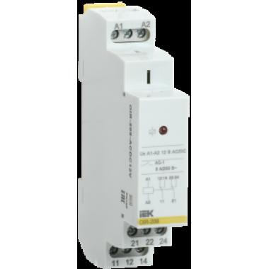 OIR-208-ACDC12V IEK Реле промежуточное модульное OIR 2 контакта 8А 12В AC/DC IEK