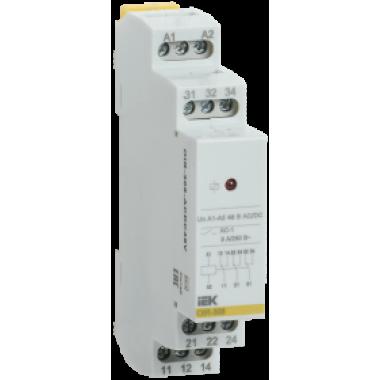OIR-308-ACDC48V IEK Реле промежуточное модульное OIR 3 контакта 8А 48В AC/DC IEK