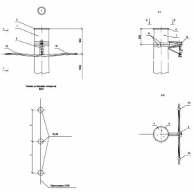 ASIP-DER-OPR-101-00-20 IEK Опора Пд15 деревянная промежуточная одноцепная IEK
