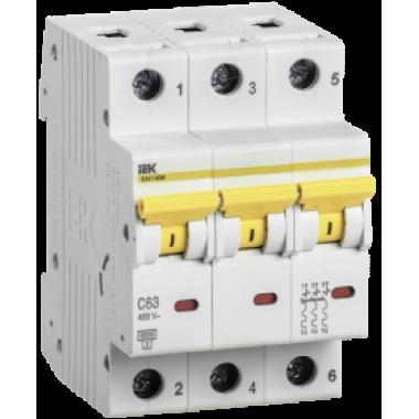MVA31-3-001-B IEK Выключатель автоматический ВА47-60M 3Р 1А 6кА B IEK