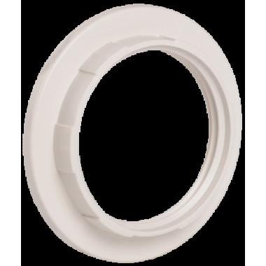 EKP10-01-02-K01 IEK Кольцо к патрону Е27 пластик белый (индивидуальный пакет) IEK
