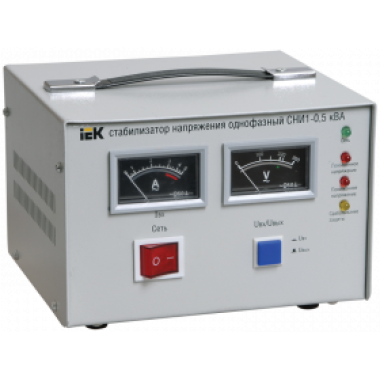 IVS10-1-00500 IEK Стабилизатор напряжения однофазный СНИ1-0,5 кВА