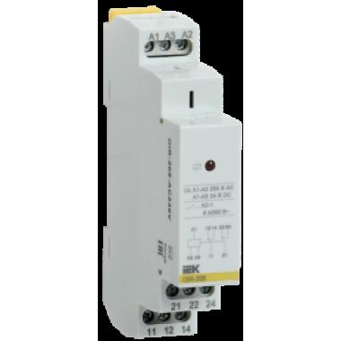 OIR-208-AC230V IEK Реле промежуточное модульное OIR 2 контакта 8А 230В AC IEK