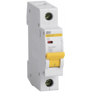 MVA20-1-005-C IEK Выключатель автоматический ВА47-29 1Р 5А 4,5кА С IEK