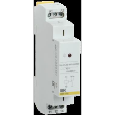 OIR-116-ACDC48V IEK Реле промежуточное модульное OIR 1 контакт 16А 48В AC/DC IEK