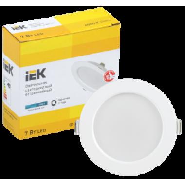 LDVO0-1611-07-4000-K01 IEK Светильник светодиодный ДВО 1611 круг 7Вт 4000К IP20 белый IEK