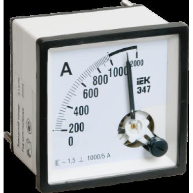 IPA10-6-0010-E IEK Амперметр аналоговый Э47 10А класс точности 1,5 72х72мм