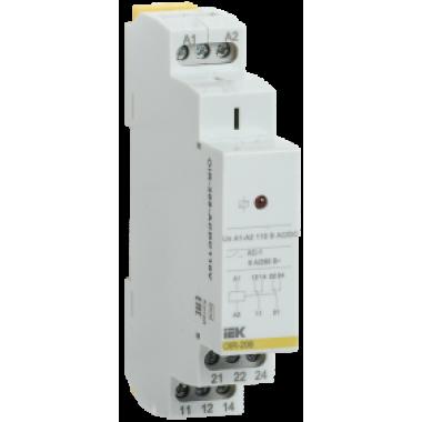 OIR-208-ACDC110V IEK Реле промежуточное модульное OIR 2 контакта 8А 110В AC/DC IEK