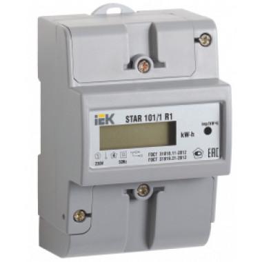 CCE-1R1-1-02-1 IEK Счетчик электрической энергии однофазный STAR 101/1 R1-5(60)Э