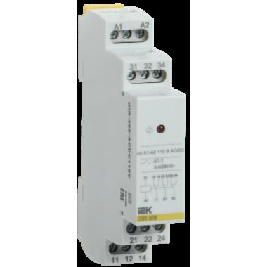 OIR-308-ACDC110V IEK Реле промежуточное модульное OIR 3 контакта 8А 110В AC/DC IEK