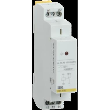 OIR-116-ACDC12V IEK Реле промежуточное модульное OIR 1 контакт 16А 12В AC/DC IEK