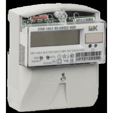 CCE-1R5-1-01-1 IEK Счетчик электрической энергии однофазный многотарифный STAR 104/1 R5-5(60)Э 4ШО